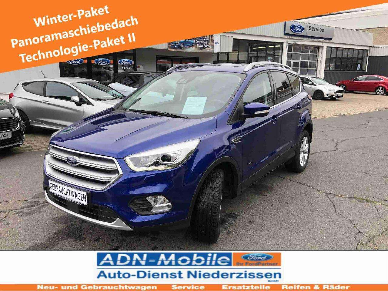 Ford Kuga Recent Used Titanium Color Blue Gearbox Automatic And