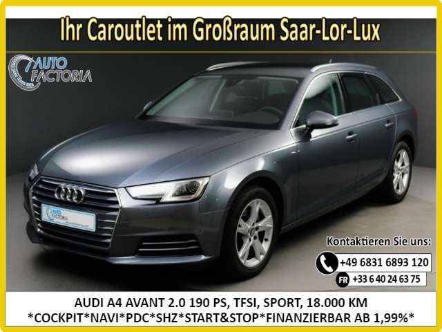 Audi, A4, AVANT 2.0 190PS TFSI SPORT ULTRA NAVI*PDC*SHZ