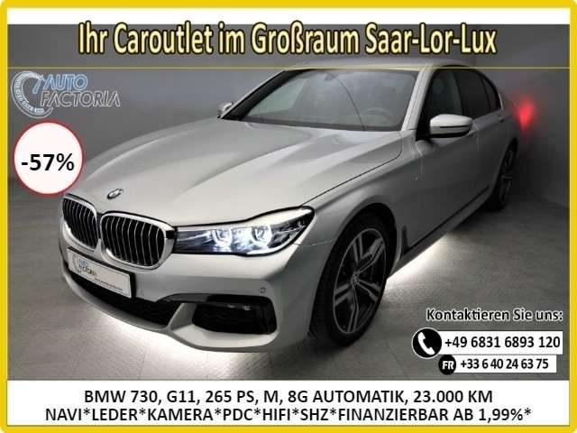 BMW, 730, 265PS AUTOM M SPORT NAVI*LEDER*KAM*HIFI -57%