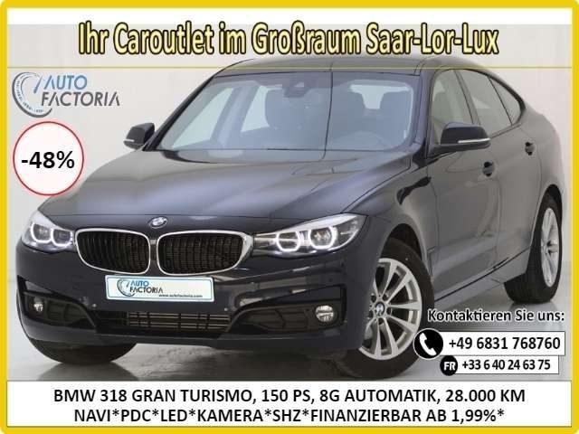 318, 3er Gran Turismo 150PS 8G AUT NAVI*LED*KAM*-48%