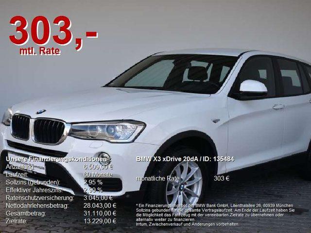 BMW, X3, xDrive 20dA Advantage Navi.HUD.Xenon.Keyl.PDC
