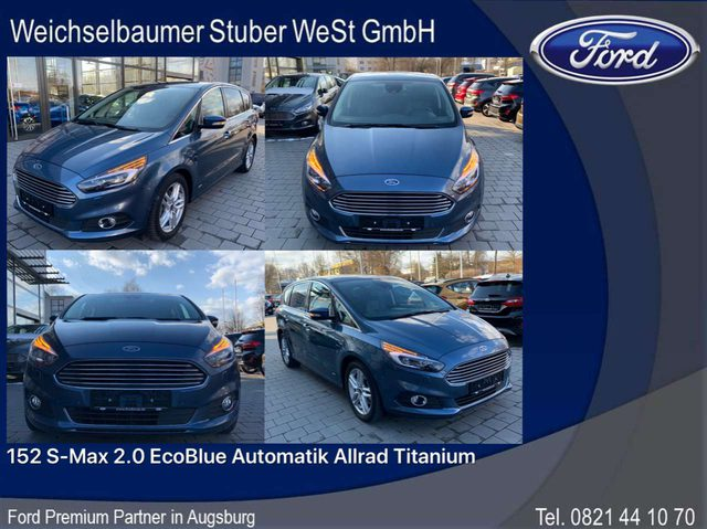 Ford, S-Max, 152 S-Max 2.0 EcoBlue Automatik Allrad Titanium