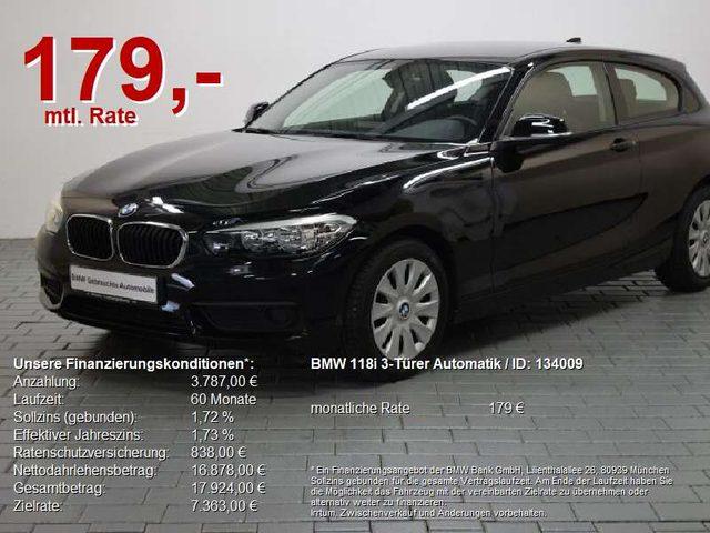 BMW, 118, i 3-Türer Automatik ...sehr wenig Kilometer!