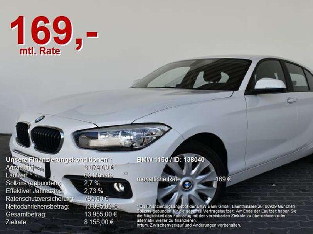 BMW, 116, d Navi Business.Sitzheizung.Lordosenstütze