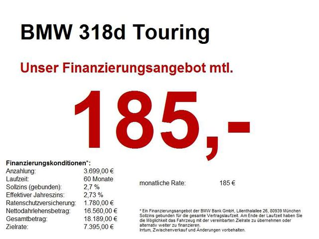 318, d Touring 16*LM.LED.Navi Business.Sitzheizung