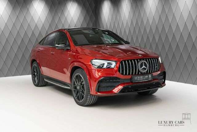 GLE 53 AMG, COUPE, RED/RED, PANO, DIST, CARBON