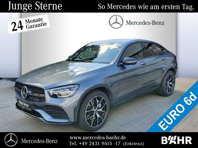 Mercedes-Benz, GLC 300, d 4M Coupé AMG+Night/MBUX-Navi/LED/AHK/ Styling
